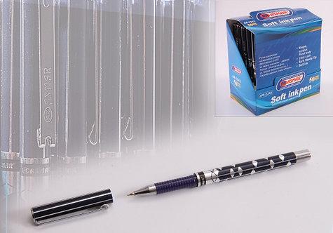 Ручка шариковая корпус синий в ромб СИНЯЯ ASMAR AR-2243/281 (12шт/уп)