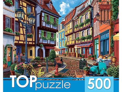 TOPpuzzle. ПАЗЛЫ 500 элементов. ХТП500-6824 Европейская улочка