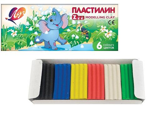 """Пластилин 6цв по 13г """"Zoo"""" мини ЛУЧ 19C-1271-08 в картонной упаковке (66шт/ящ)"""