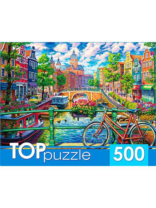 TOPpuzzle. ПАЗЛЫ 500 элементов. ХТП500-4223 МОСТЫ АМСТЕРДАМА