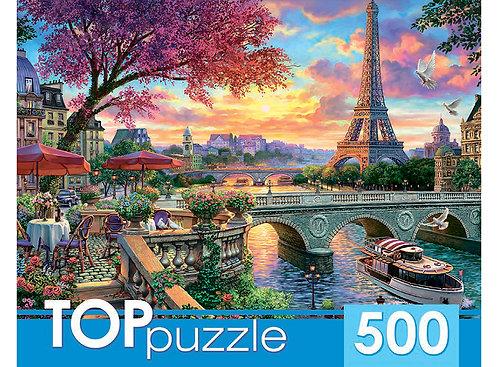 TOPpuzzle. ПАЗЛЫ 500 элементов. ХТП500-6825 Париж на закате