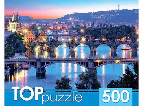 TOPpuzzle. ПАЗЛЫ 500 элементов. КБТП500-6807 Итальянские мосты
