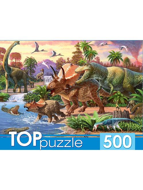 TOPpuzzle. ПАЗЛЫ 500 элементов. ХТП500-4130 МИР ДИНОЗАВРОВ №16