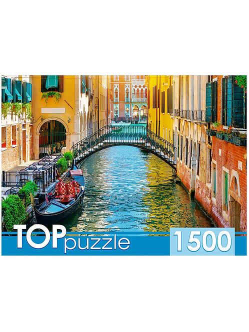 TOPpuzzle. ПАЗЛЫ 1500 элементов. ГИТП1500-4846 Романтический закат в Венеции