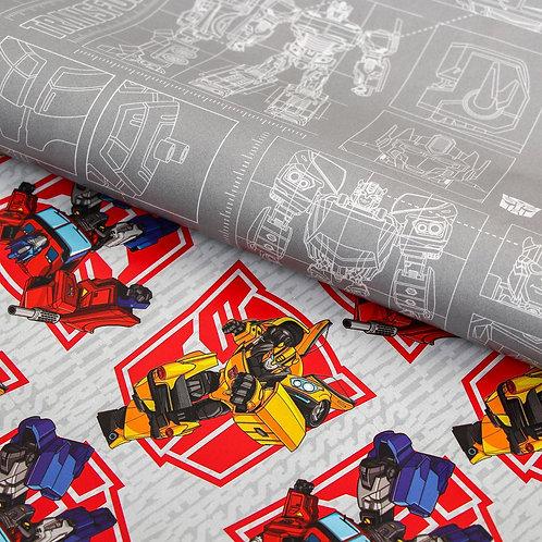 Бумага упаковочная глянцевая двусторонняя, Трансформеры, 60x90 см 5414323