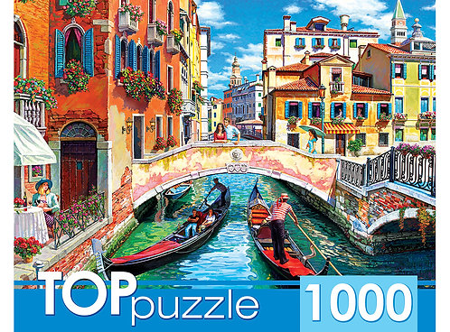 TOPpuzzle. ПАЗЛЫ 1000 элементов. ХТП1000-2170 Гондолы в Венеции