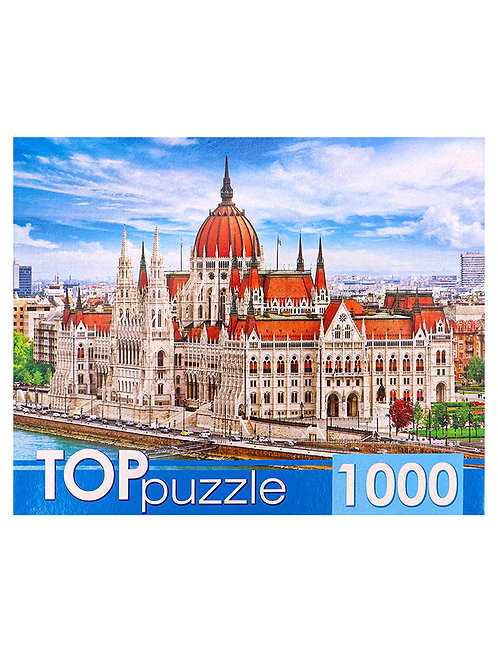 TOPpuzzle. ПАЗЛЫ 1000 элементов. ГИТП1000-4133 Венгрия. Здание парламента в Буда