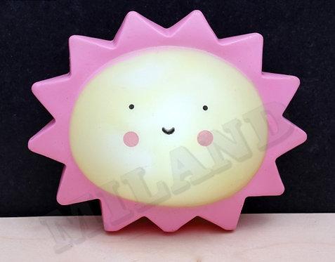 Ночник. Солнышко, жёлтый,розовый 14х12 см, LED УД-4614