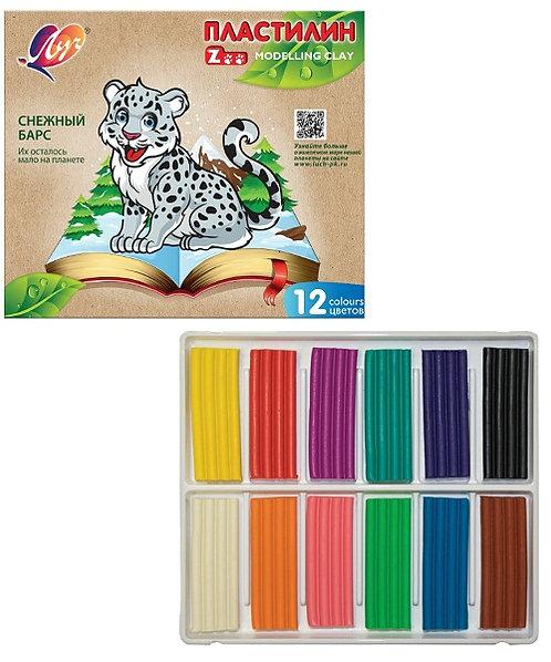 """Пластилин 12цв по 15г """"Zoo"""" ЛУЧ 19C-1722-08 в картонной упаковке (20шт/ящ)"""