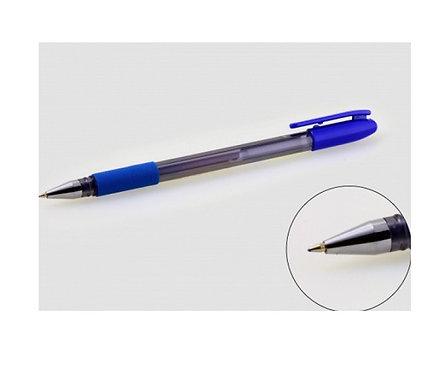 Ручка гелевая с резинкой корпус тонированный СИНЯЯ ASMAR AR-2290 (12шт/уп)