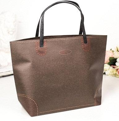 """Пакет-сумка подарочный 350х240х100мм (L) крафт """"Ассорти"""" горизонтальный ВЕ"""