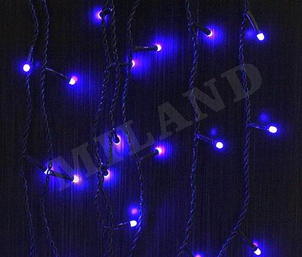 Гирлянда-штора электрическая 3х0,4/0,6м 140лампочек 8режимов черный провод MILAN