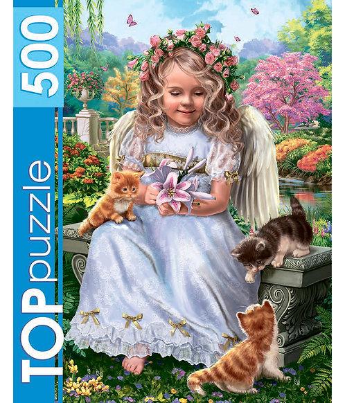 TOPpuzzle. ПАЗЛЫ 500 элементов. ХТП500-6832 Нежный ангел
