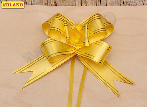 Бант-бабочка Золотые линии (3 см.) желтый БЛ-8086