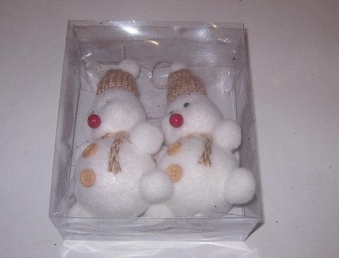 """Набор подвесок новогодних 2шт """"Снеговик"""" 120х60мм SX-7048 в блистере"""