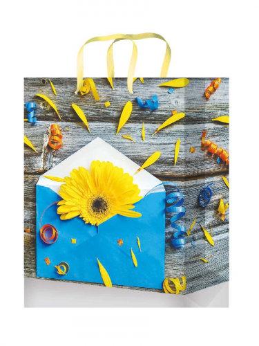 Optima Пакет подарочный с глянцевой ламинацией 11,5-14,5*6 см (S) Письмо с цвета