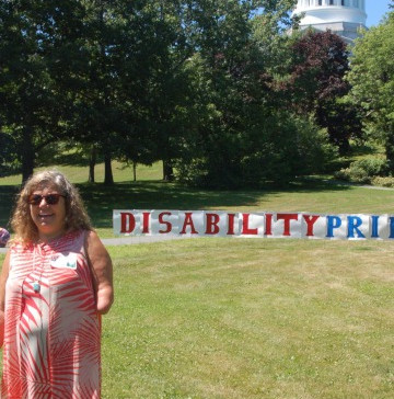 Hundreds Celebrate Disability Pride Day in Augusta, Paintings of Maine Disability Rights Activists U