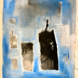 #200-02 'Zephers City' 52x72 Acrylic & Charcoal 2021 List Price $1850 Raw canvas no frame $1300 List Price with Frame $2450
