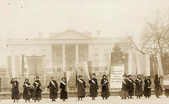 League of Women Voters Rally White House 1920s