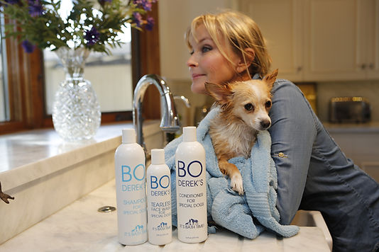 Bo Derek Pet Care spa bottles