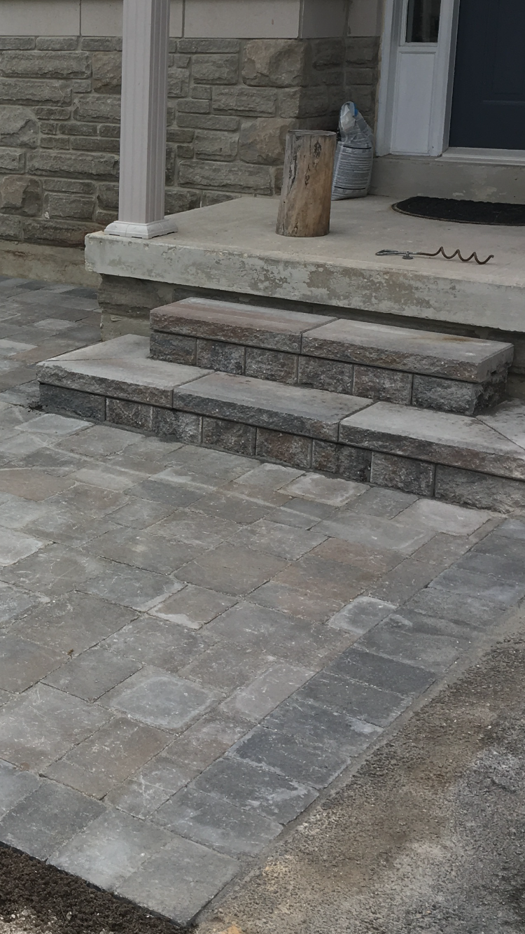 Stone patio and steps