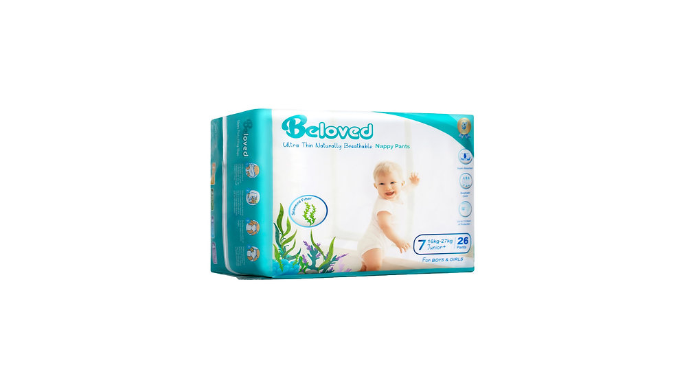 Ultra Thin Naturally Breathable Nappies Beloved - Junior Plus