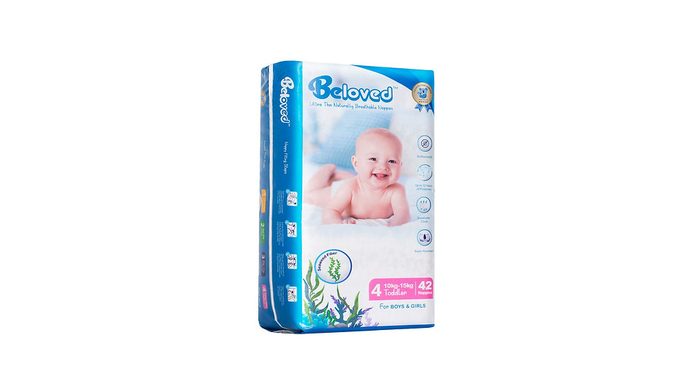 Ultra Thin Naturally Breathable Nappies Beloved - Toddler