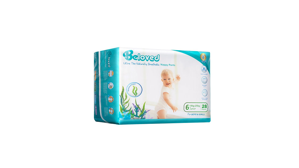 Ultra Thin Naturally Breathable Nappies Beloved - Junior