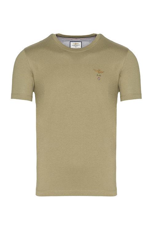 Oliwkowy t-shirt męski TS1580 Aeronautica Militare