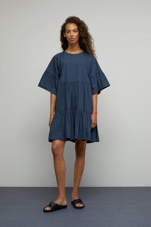 Granatowa sukienka z bawełny organicznej Closed