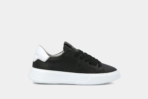 "Damskie sneakersy ""Temple Veau - Noir Blanc"" Philippe Model"