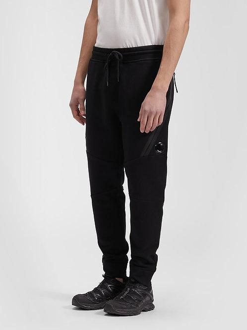 Czarne spodnie dresowe ze zwężanymi nogawkami C.P. COMPANY