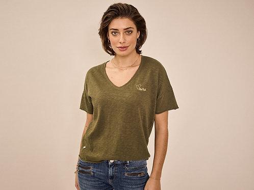 """Zielony t-shirt """"Glory"""" V-SS MOS MOSH"""