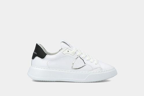 "Damskie sneakersy ""Temple Veau - Blanc Noir"" Philippe Model"