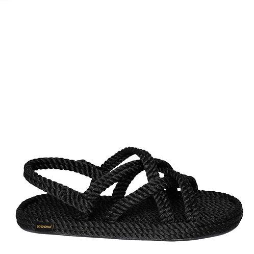 """Czarne sandały """"Bodrum"""" płaskie BOHONOMAD"""