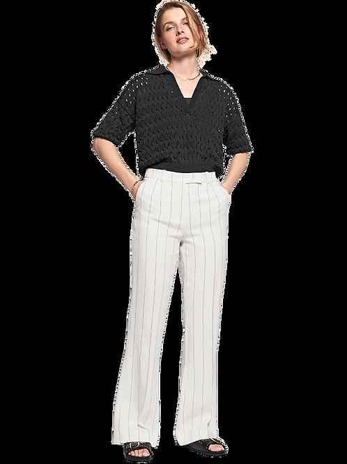 Szerokie spodnie w delikatne paski RIANI