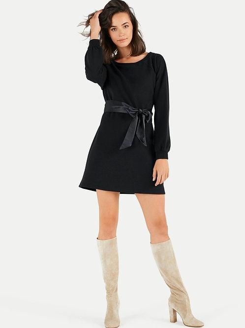 Czarna sukienka z kokardą JUVIA