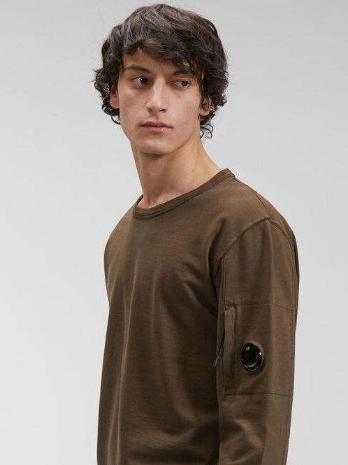 Oliwkowa bluza z barwionej dzianiny C.P. COMPANY