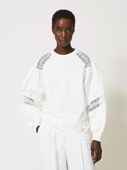 Bluza z koronkowymi wstawkami TWINSET