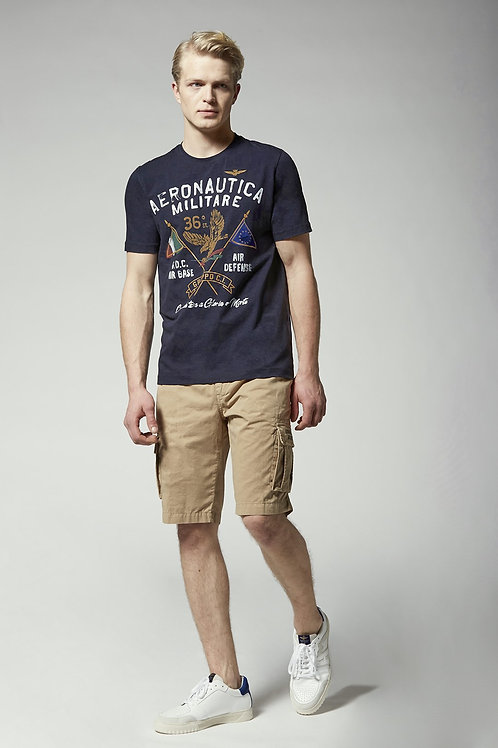 """T-shirt navy """"With the wing stretched to glory or death!"""" Aeronautica Militare"""
