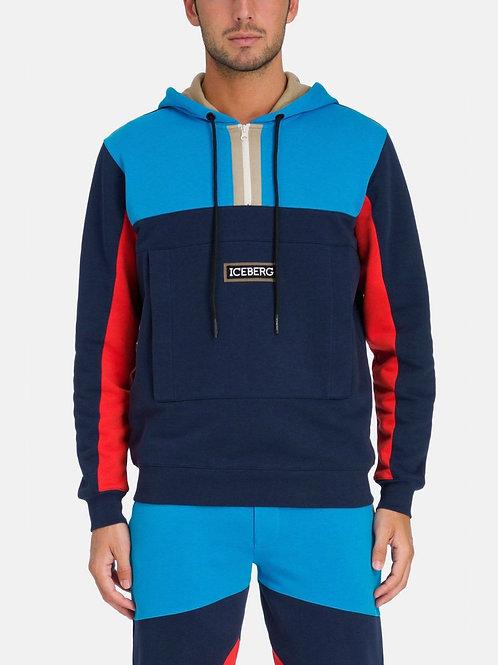 """Bluza typu """"kangurek"""" w kolorowe bloki ICEBERG"""
