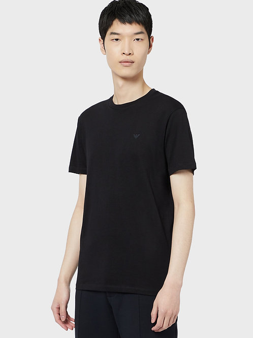 Granatowy t-shirt z Supimy Emporio Armani