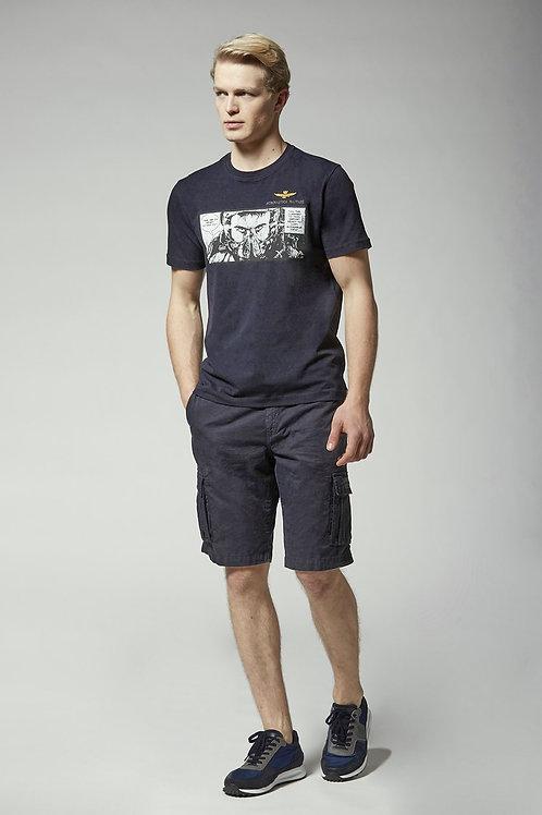 T-shirt TS1864 z nadrukiem pilota Aeronautica Militare