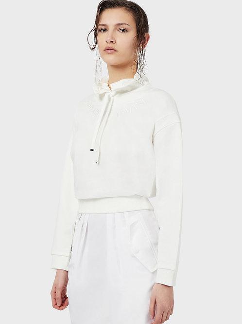 Bluza z półgolfem i nylonowym dekoltem Emporio Armani