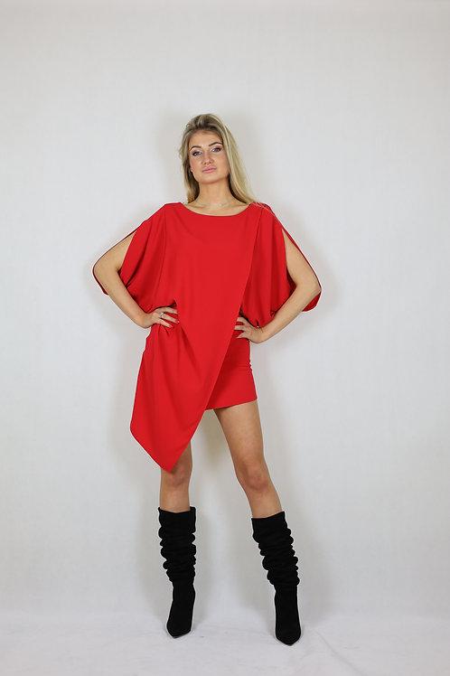Asymetryczna sukienka koktajlowa Laurél