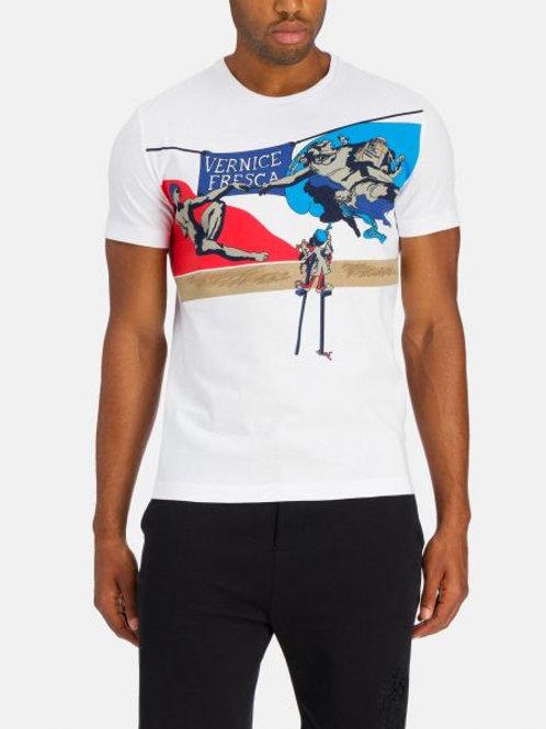 """Biały t-shirt """"Stworzenie Adama"""" ICEBERG"""