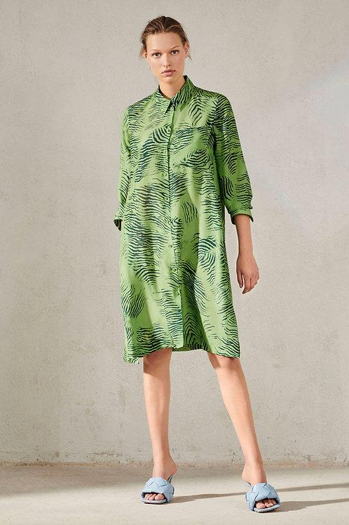 Jedwabna sukienka w zwierzęcy print Luisa Cerano