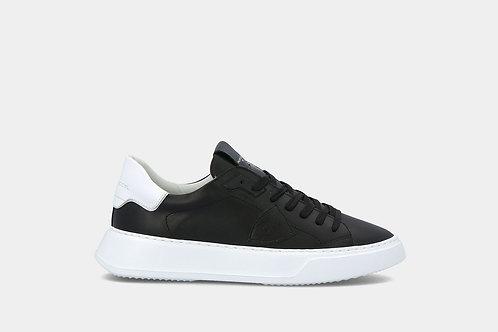 """Męskie sneakersy """"Temple Veau - Noir Blanc"""" Philippe Model"""