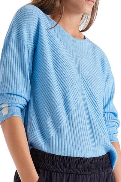 Sweter z teksturowanym wzorem Marc Cain