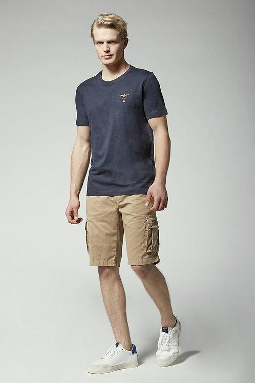 Granatowy t-shirt męski TS1580 Aeronautica Militare